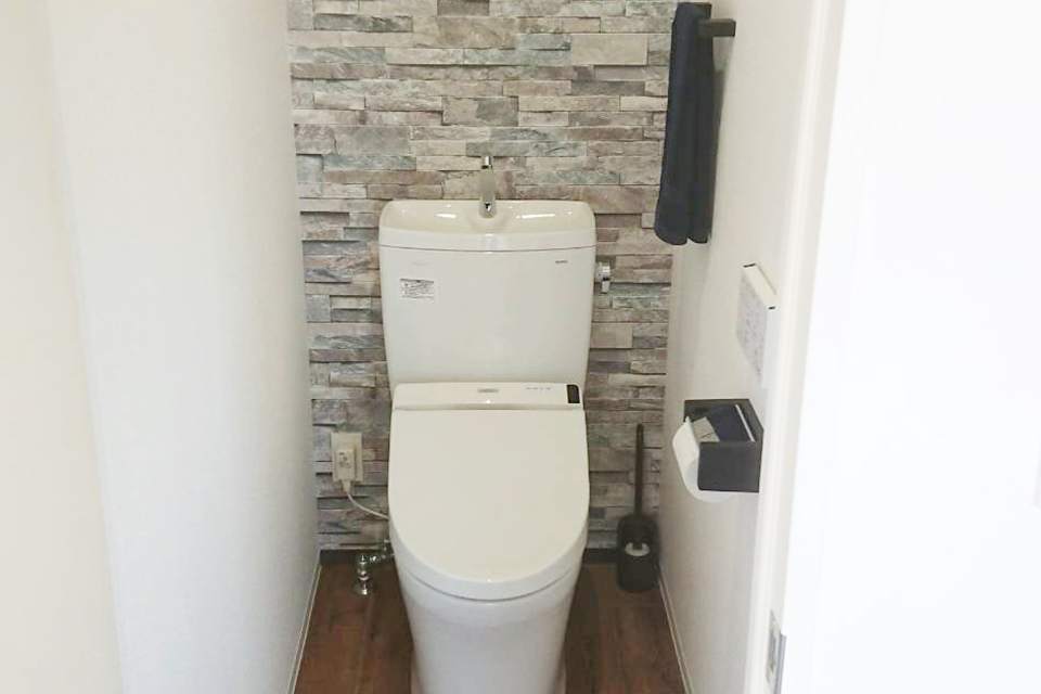水洗トイレ切替工事も羽納設備へ